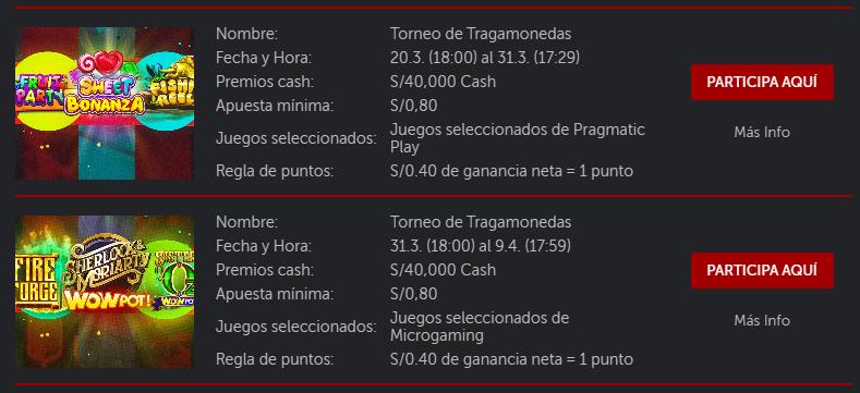 desafío de casino marzo 2021