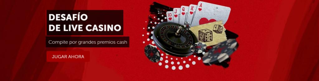 desafío de live casino