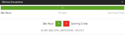 Clara victoria para Sao Paulo frente a Sporting Cristal