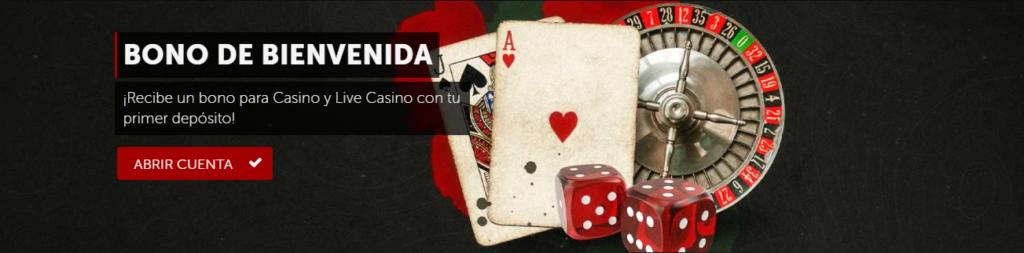 Bono de bienvenida casino tragamonedas